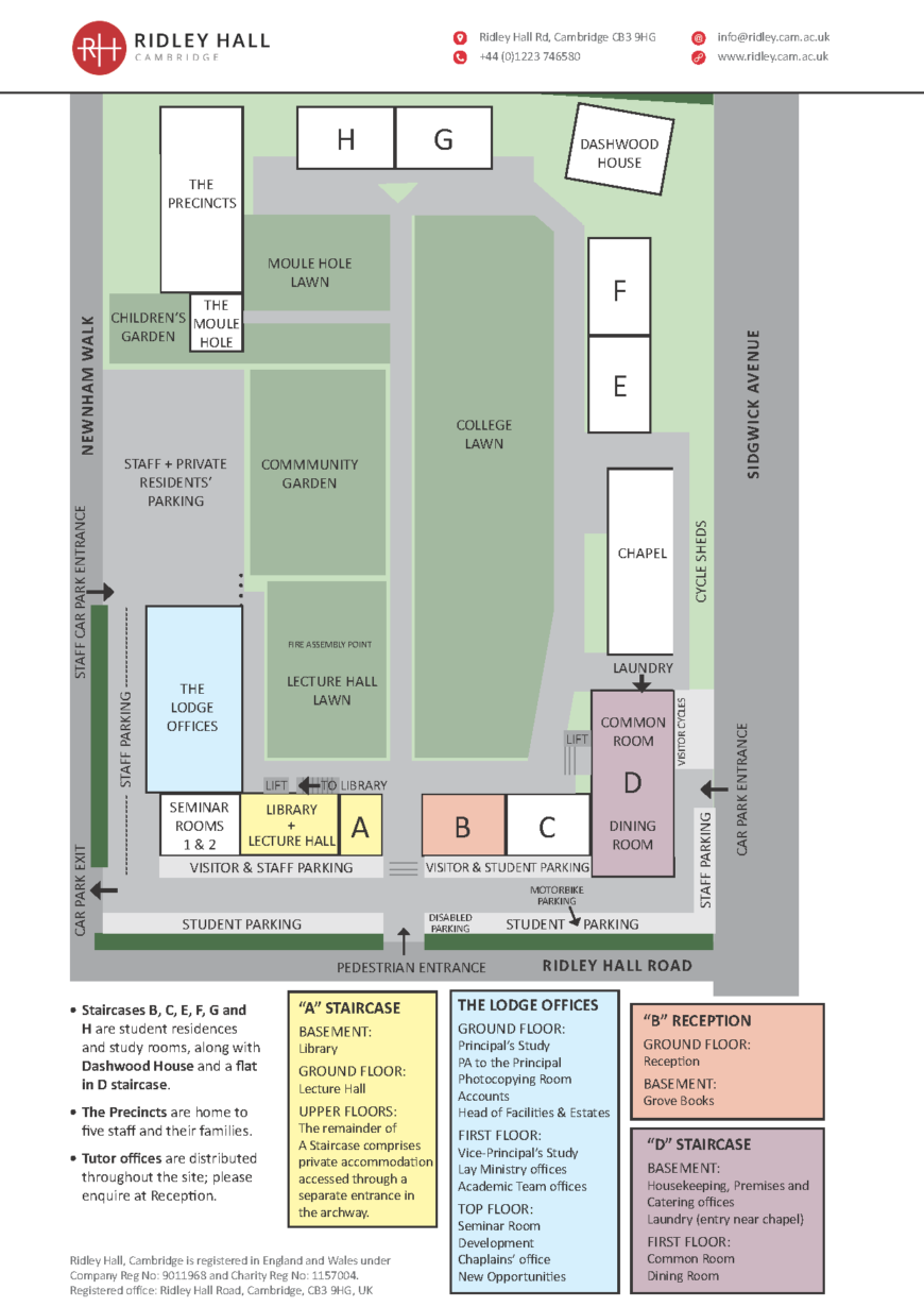 Map of the college - pdf opens in a new tab