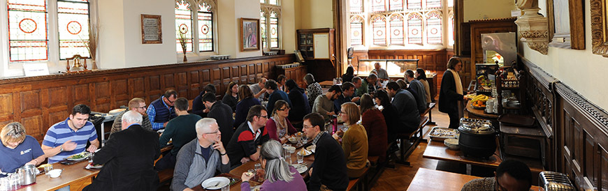 Lunch with the community in the dining room