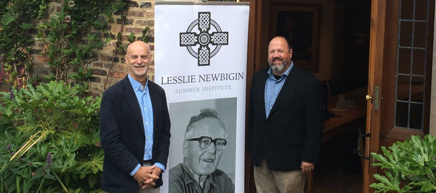 Paul Weston and Scott Sherman at the Newbigin Summer Institute