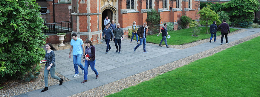 Students leaving the chapel
